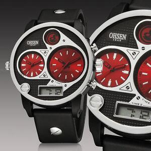 OHSEN-Military-Army-Sport-Dual-Time-Zone-Analog-Big-Case-Mens-Wrist-Watch-Quartz