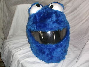 Moto-Gracioso-silenciosos-Loco-Crash-Casco-Cubre-Motocicleta-Cubierta-Cookie-Monster