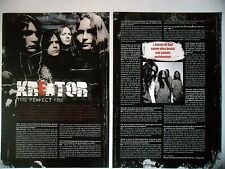 COUPURE DE PRESSE-CLIPPING :  KREATOR [2pages] 2007 Mille Petrozza,Enemy of God