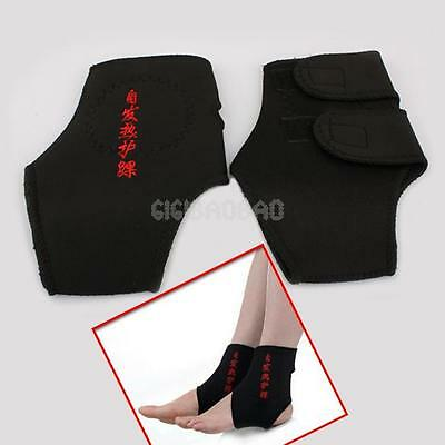2x Magnetic Therapy Ankle Brace Support Self Heating Protection Belt Spontaneous