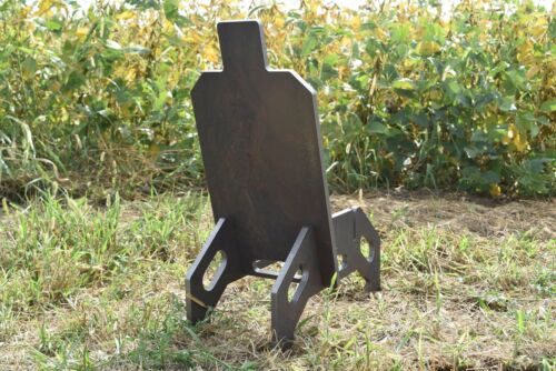 "AR500 1//2/"" Steel Shooting Target IDPA Body /& Stand 12/""x23/"""