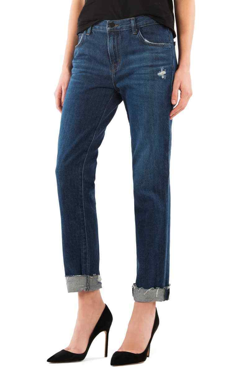228 NEW J Brand Johnny Boy Fit Jean with Raw Hem in Doubletake - Size 24