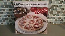 "BIALETTI Casa Italia! Mini Pizza Baking Stone Set 8""Round Stone & Mini Peel NIB"