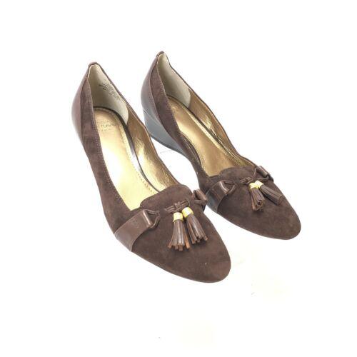 David 5m Luxe 6 Tassles Joan Cjyzabeth Suede Size Wedges amp; Brown SA8qa56w