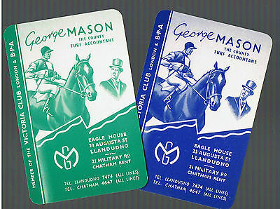 Playing Swap Cards  3 VINT RACE  HORSES  ADVT TURF ACCOUNTANT  MINT SET  W428