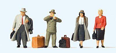 Adattabile Preiser 65373 Viaggiatori Alla Stazione 1:43 Nuovo/scatola Originale-mostra Il Titolo Originale Numerosi In Varietà
