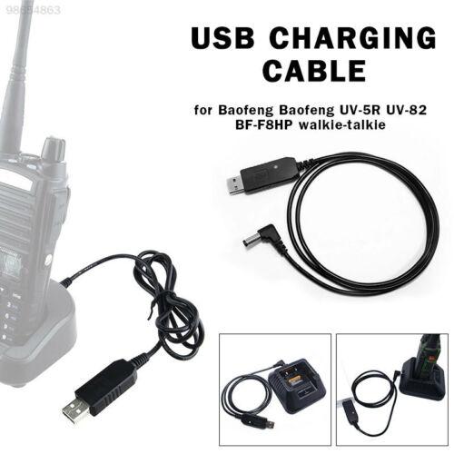 C7B1 Kabel Für Baofeng UV-5R USB-Ladekabel Schwarz USB PU Erstreckt Sich