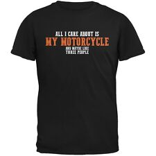 Sarcastic Care About My Motorcycle Black Adult Tank Top