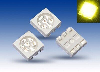 Responsabile S926 - 100 Pezzi Smd Led Plcc-6 5050 Giallo 3-chip Led Giallo