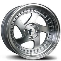 4 Pc Set Of Machined Avid1 Wheels Rims Av19 Av-19 16x8 4x100 16x8+25 Offset on sale