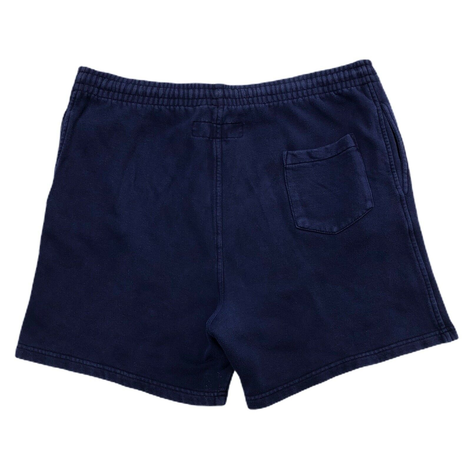 Vintage 90s B.U.M. Equipment Shorts navy blue Swe… - image 2