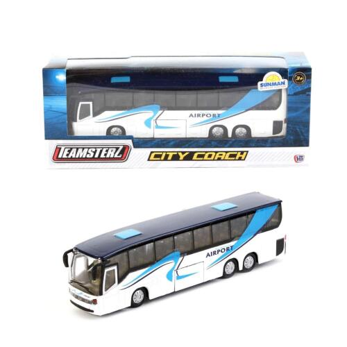 TEAMSTERZ DIE-CAST CITY COACH TRAVELLER MODEL 1370246 TOY VEHICLE CAR AIRPORT