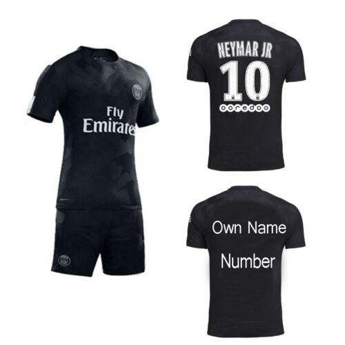 18//19 Kid Boy Kit Football Soccer Jersey Short Sleeve Kit Socks Sports Team Suit