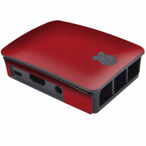 Red Leather Case Skin for the Official Raspberry Pi Case
