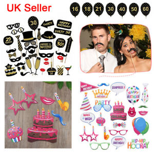 Image Is Loading 30 40 50 60th Birthday Party Mustache Glasses
