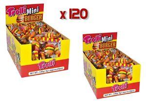Bulk-Lollies-x-120-Trolli-Mini-Burger-Gummy-Candy-Buffet-Party-Favours-Sweets