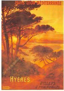 Postcard Ads Advertising P. L.M.Hyeres Edit Clouet T1