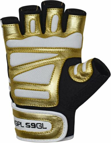 RDX Golden Gym Weight Lifting Gloves Fitness Training Workout Power US