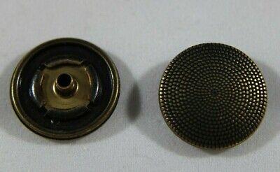 10 große Druckknöpfe zum Annähen 25 mm altmessing  NEUWARE rostfrei
