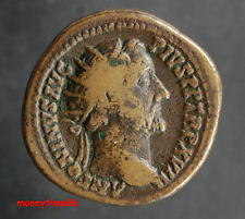 Romaine joli dupondius d'Antonin le Pieu revers COS III SC