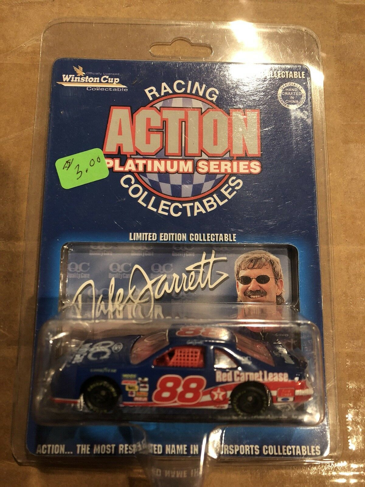 Nascars Dale Jarrett Racing Action Platinum  64 Scale Winston Cup, Limited