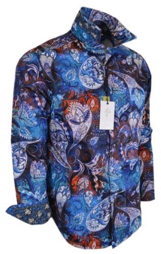 NEW Robert Graham $228 MAYAR Bold Paisley Print Classic Fit Cotton Sports Shirt