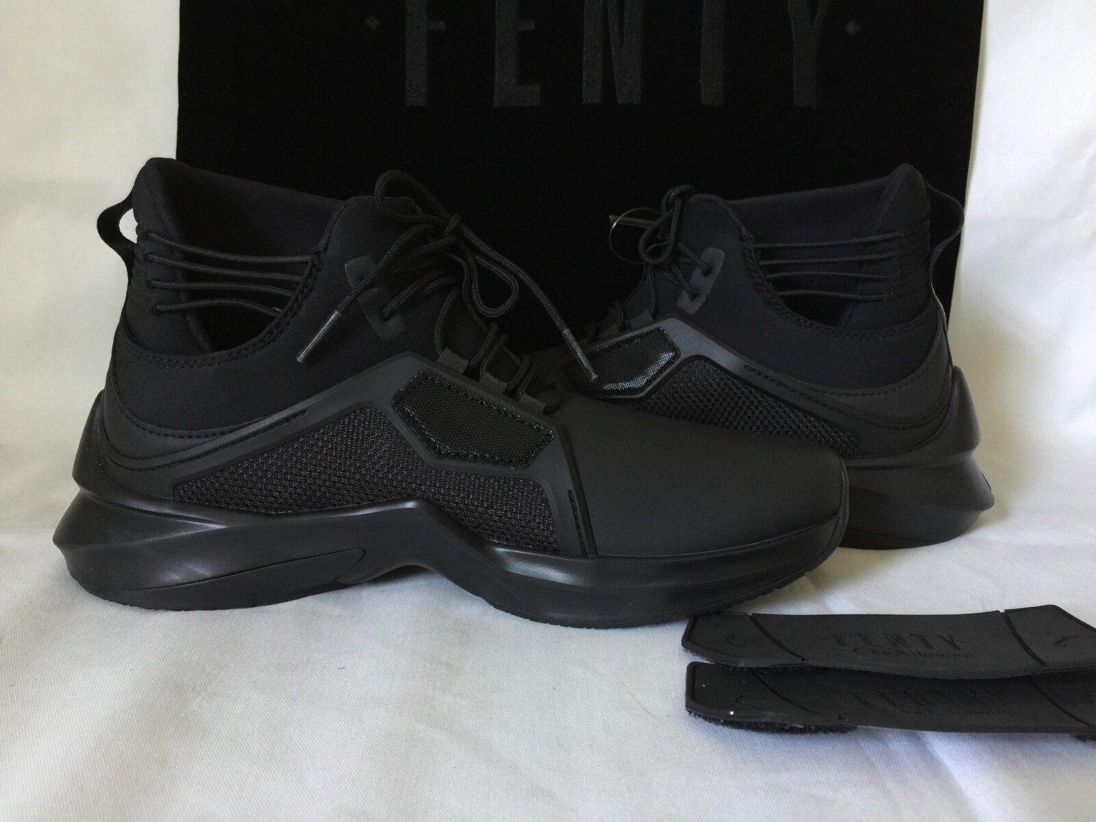 NEU WOMEN'S PUMA &  RIHANNA THE TRAINER HI BY FENTY BLACK Schuhe Sz 7.5
