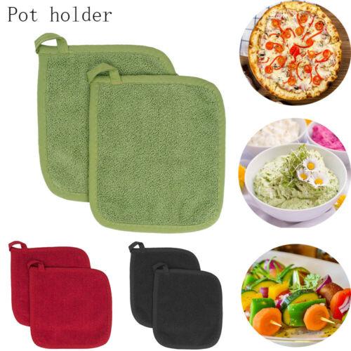 1Pc Cotton Heat Resistant Potholder Pot Holder Pads Table Placemat Kitchen Pad