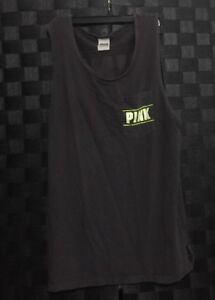 b86aa385795be Details about Victoria's Secret Pink Campus Tank Top Tee Gray Pocket  Graphic Size Small