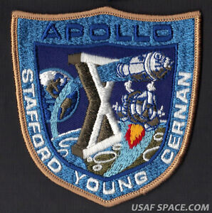APOLLO-10-LION-BROTHERS-VINTAGE-ORIGINAL-NASA-CLOTH-BACK-SPACE-PATCH-MINT