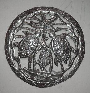 Art-tortues-decor-metallique-concoit-des-oeuvres-d-039-art-en-metal-haitian-mur-38cm