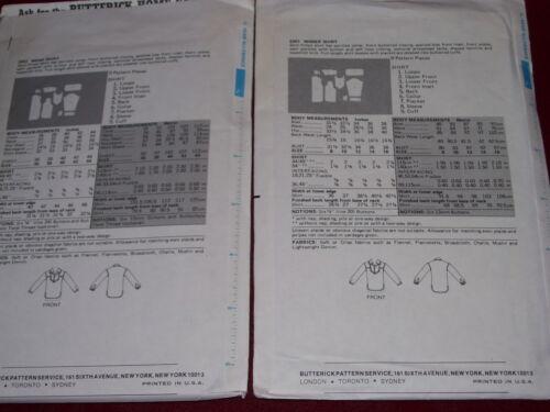 #5302-UNISEX SHIRT PATTERN  12-16 /& 40-42 FF UNCIRCULATED 1978 BUTTERICK #5301