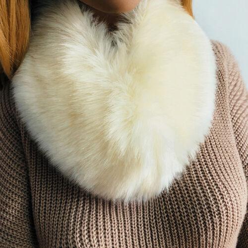 Women Faux Fur Scarf Collar Shaggy Winter Warm Wrap Fluffy Short Scarves Clothes