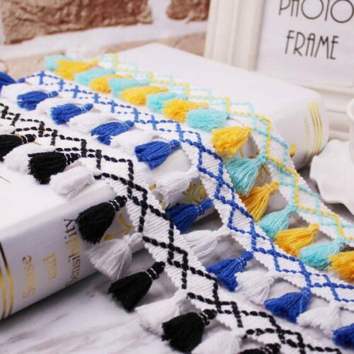 5 Yards Tassel Lace Trim Handmade Sewing Curtains//Clothes//bag DIY Accessories