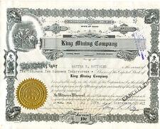 King Mining Company 1947 per S O N D E R P R E I S
