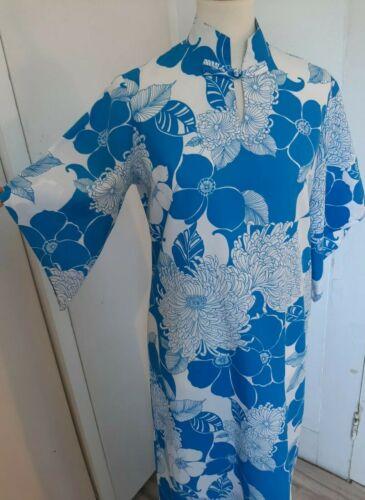 Vintage 60s 70s Hawaiian Holo-Holo Pake Muu Dress