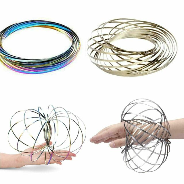 Magic Flow Ring Toys Funny Kinetic Spring Infinity Arm Slinky Juggle Dance Gifts