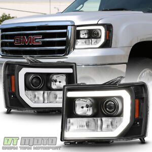 Image Is Loading Black 2007 2017 Gmc Sierra 1500 2500hd 3500hd