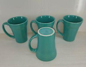 LATTE MUG CUP turquoise blue FIESTA WARE new