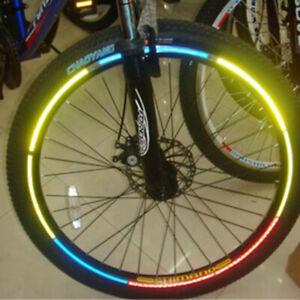 Bike Reflective Wheel Rim Stickers Bicycle Cycling Reflector Tape,Yellow