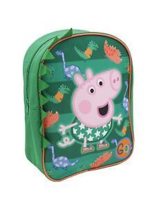 plus récent 4e994 9e8d3 Détails sur Enfants Garçons Filles Peppa Pig George Dino Dude Sac à Dos  Cartable
