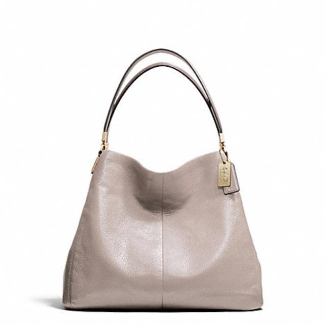 coach madison leather small phoebe shoulder bag light gold grey rh ebay com