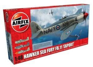 AIRFIX-1-48-HAWKER-SEA-FURY-FB-11-039-EXPORT-039-EDITION-MODEL-AIRCRAFT-KIT-A06106