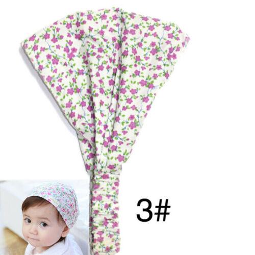 Bright Cute Flower Headband Headscarf Bandana Hat For Baby Girls GX
