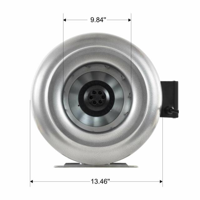 Fox Single Speed Inline Extraction Fans Ducting Ventilation Exhaust Hydroponics