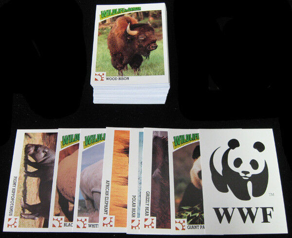 1991 ENDANGERED WILD ANIMALS COMPLETE BASIC TRADING CARD SET