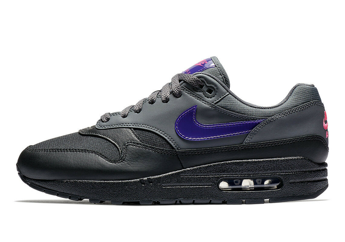 Nike Air Max 1 Dark Grey/Fierce Purple-Black (AR1249 002)