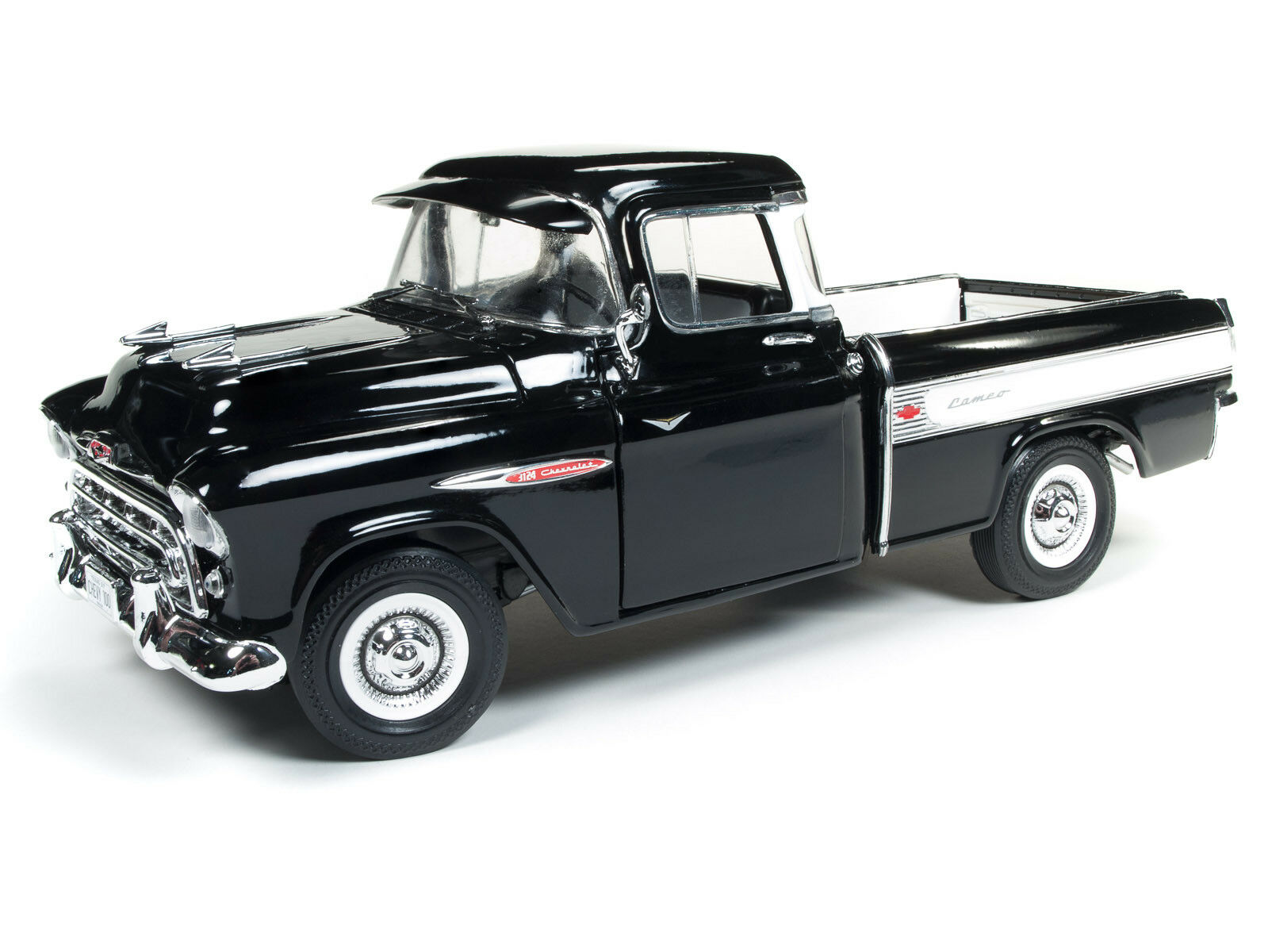 2018 Auto World 1 18 American Muscle  Negro  1957 Chevy Cameo Pickup 100 años
