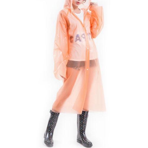Long Sleeve Raincoat Waterproof Transparent Poncho One Size New 1PC 70*145cm