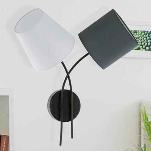 Design Wand Leuchte Gästezimmer Textil Schirm Strahler anthrazit Flur Lampe IP20